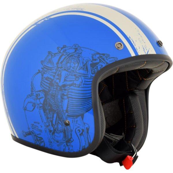 Casco AFX Raceway Azul brillo