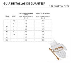 Guia de tallas Guantes