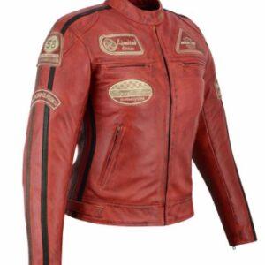 Chaqueta Custom Roja Vintage Mujer