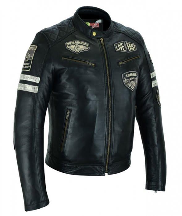 Chaqueta moto Piel Milano B.Star