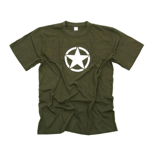 Camiseta militar estrella