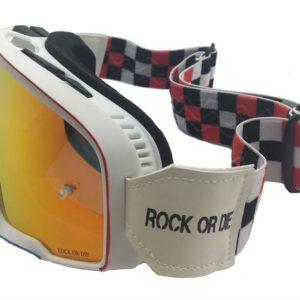 Gafas Retro motocross blancas