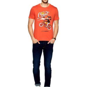 Camiseta Royal Enfield Do It The Coast Orange