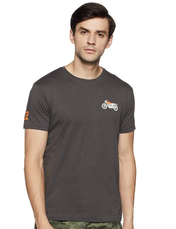 Camiseta Royal Enfield Interceptor 650 Twin Crew Grey