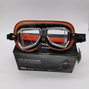 Gafas moto Climax retro marrón